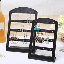 24/48 Holes Earrings Display Stand Holder Jewelry Show Rack Acrylic Organizer Earring Holder Jewelry Rack Shop Jewelry Organizat transparent acrylic earring holder organizer hanger display stand with 48 holes detachable