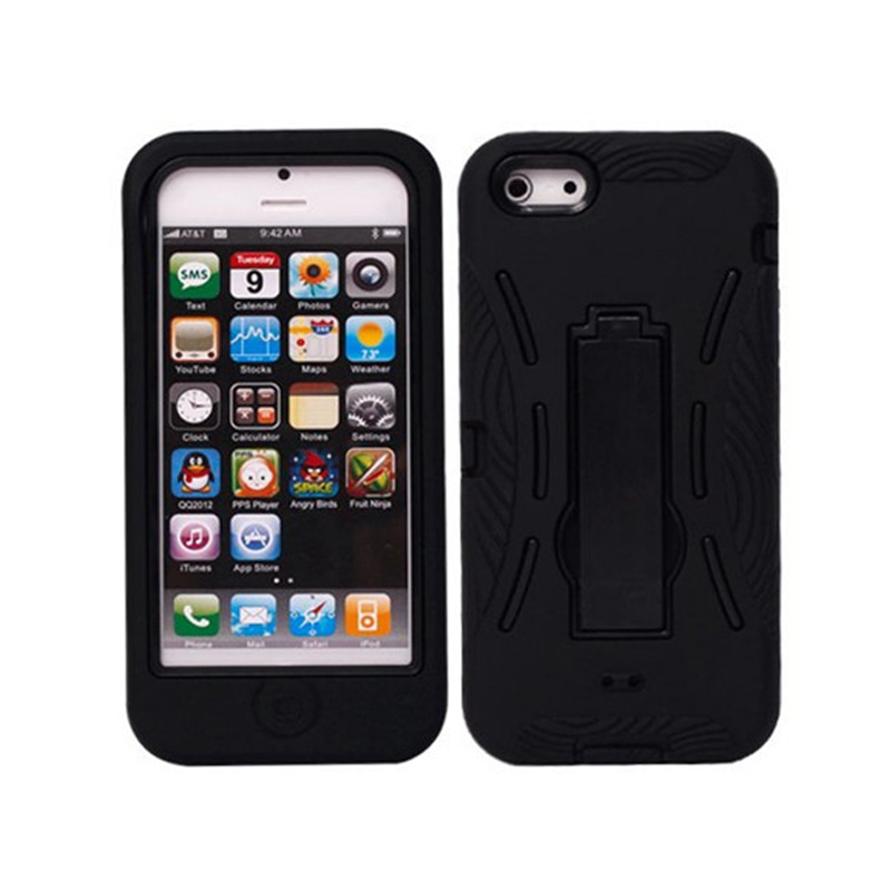 Heavy Duty Shockproof <font><b>Armor</b></font> <font><b>Case</b></font> Cover <font><b>for</b></font> <font><b>iPhone</b></font> <font><b>4</b></font> 4S Kickstand Hybrid Phone Cover image