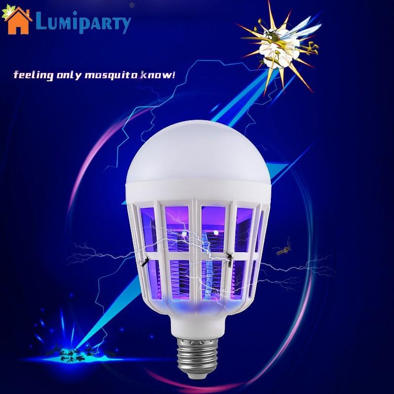 Lumiparty Mosquito Killer LED Bulb 220V 15W LED Bug Zapper Lamp E27 Insect Mosquito Repe ...
