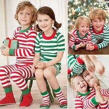 Xmas Children Baby Kid Girl Boy Nightwear Pajamas Pyjamas Sleepwear Suit Christmas