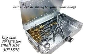 Image 2 - Medical orthopedic dentel Surgical instrument aluminium alloy Storage Sterilizing box HTHP materials case with HTHP silicone pad