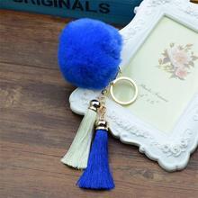 Cute Rabbit Fur Ball Tassel Keychain
