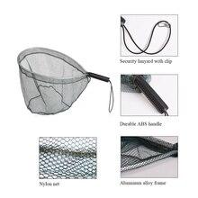 Landing Net Catch and Release Nets Fly Fishing Brail Net Portable Lightweight Aluminum Landing Fishing Net Nylon Mesh