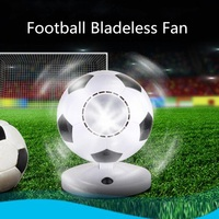 USB Battery Football Bladeless Portable Fan AirFlow Cooling Circular Handheld New USB Gadgets Fan Super Strong