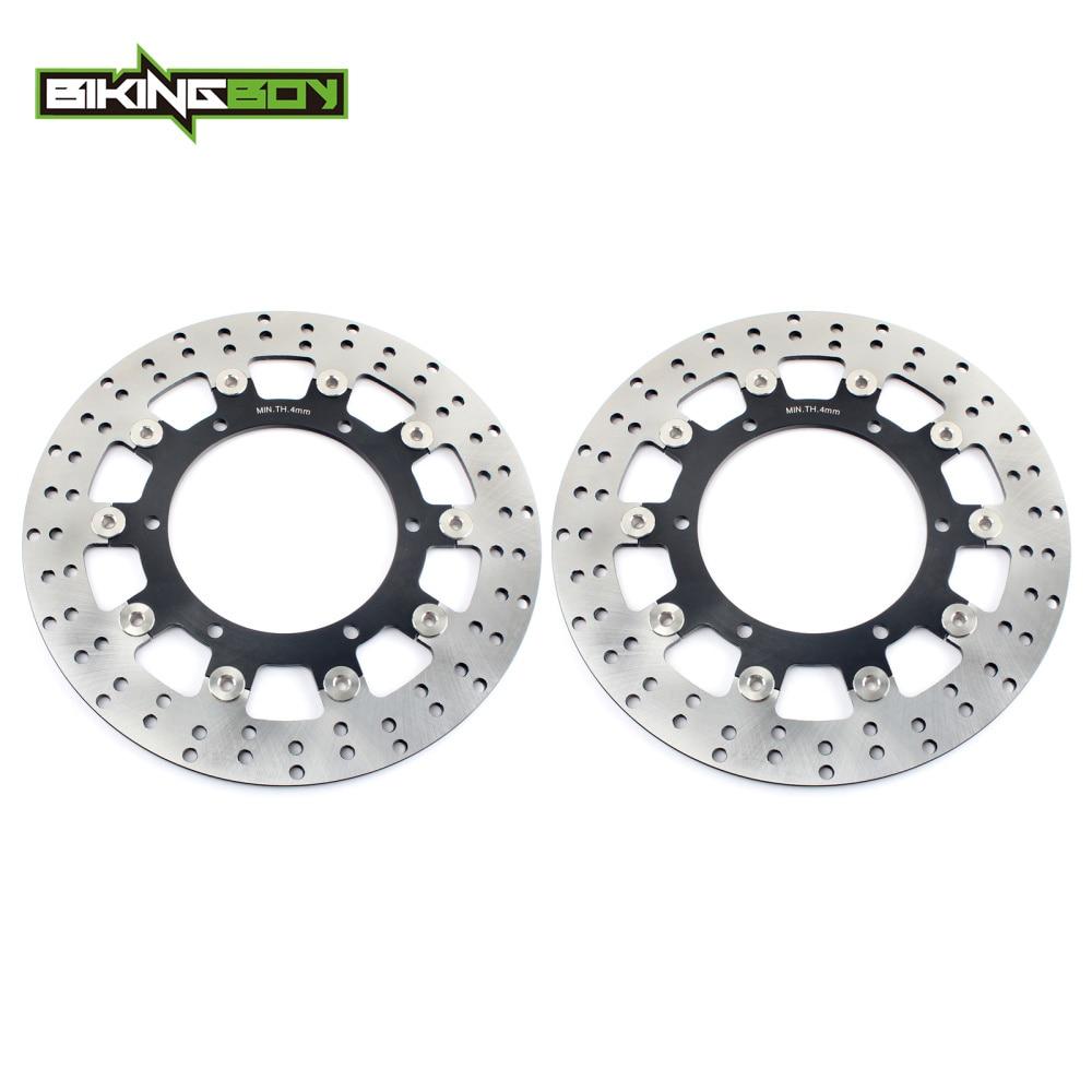 BIKINGBOY Front Brake Discs Rotors Disks for XVS1100 V Star Classic Silverado 04 09 XVS 1100