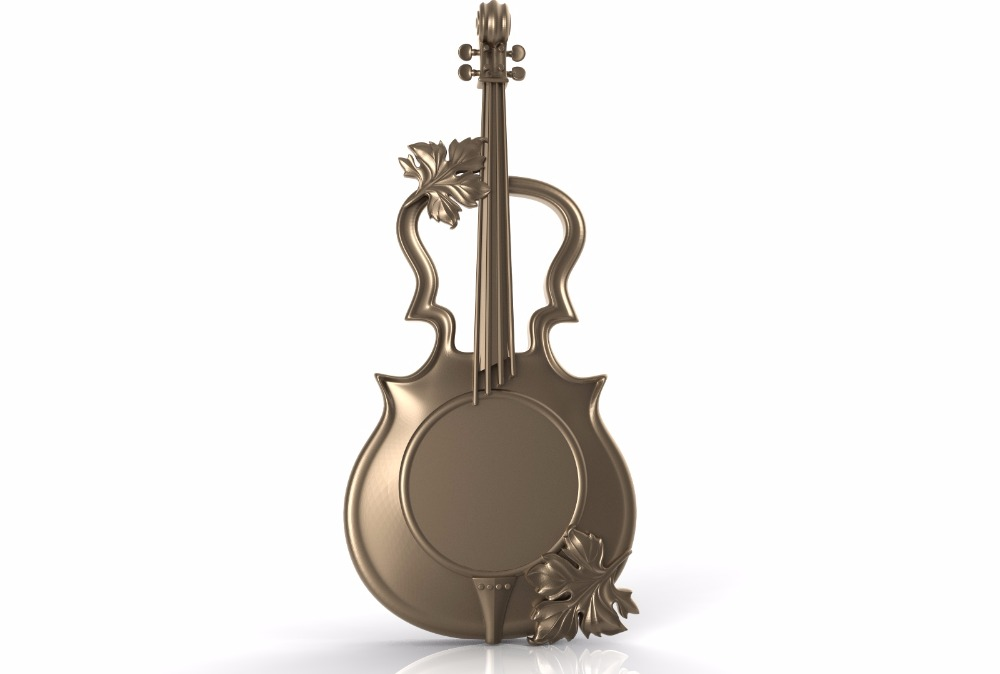 Cnc 3d Model In STL Format File Relief For Cnc Carving Engraving Violin C041