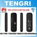 Abierto original de huawei e8372 e8372h-608 150 100mbps 4g lte modem wifi dongle soporte 10 usuarios wifi pk huawei e8278