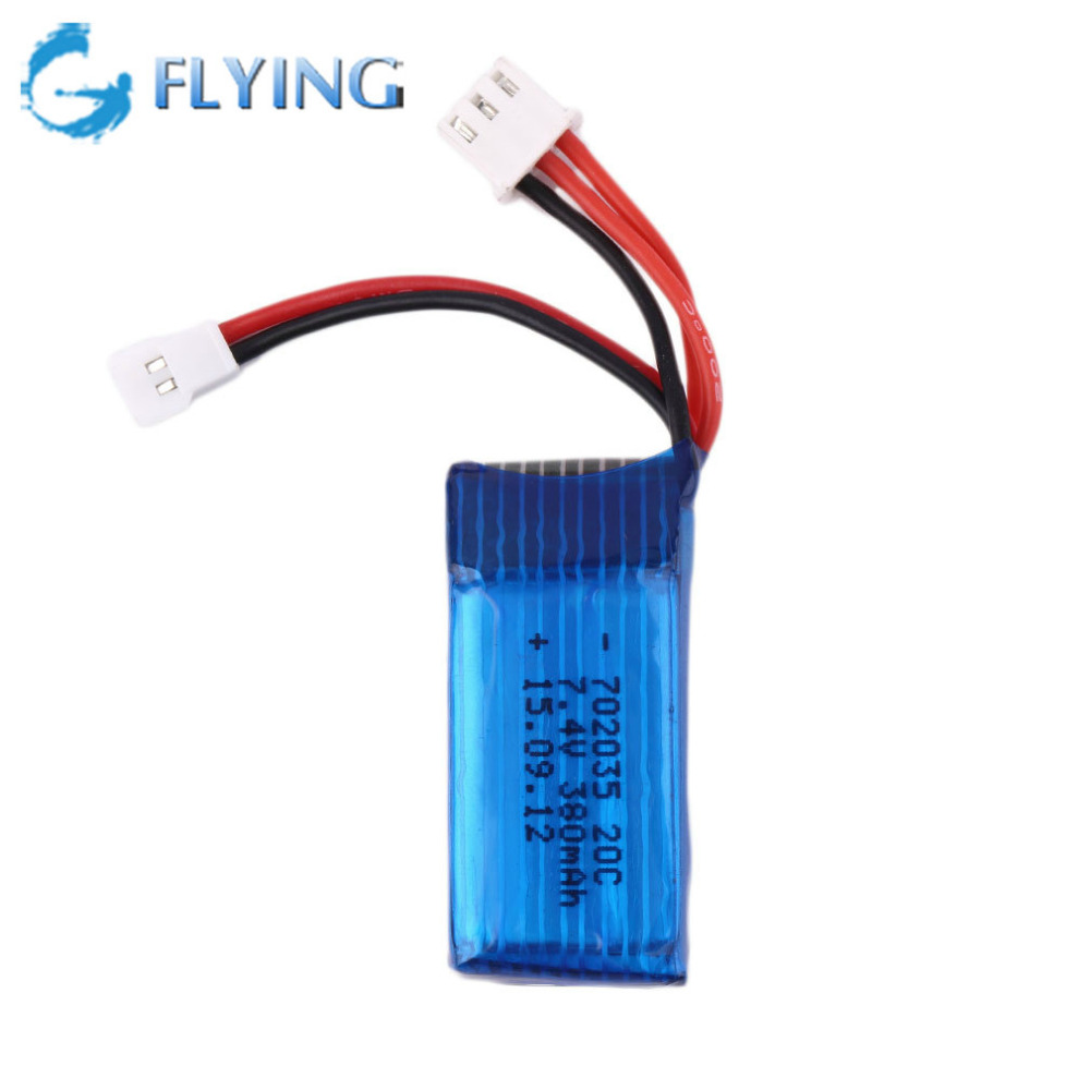 Liop Battery 7 4V 380mAh 20C Losi Micro Short Card Battery for Mini Remote Control Car