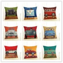 New Cartoon Creative Cushion Cute car Dog Letter Printing Throw Pillow Pillowcase Sofa