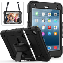 Get more info on the Pencil Holder Cover for Ipad Mini 5 2019 Shockproof Stand  Kids Friendly Case with Handle Silicone Shoulder Strap 7.9 Inch