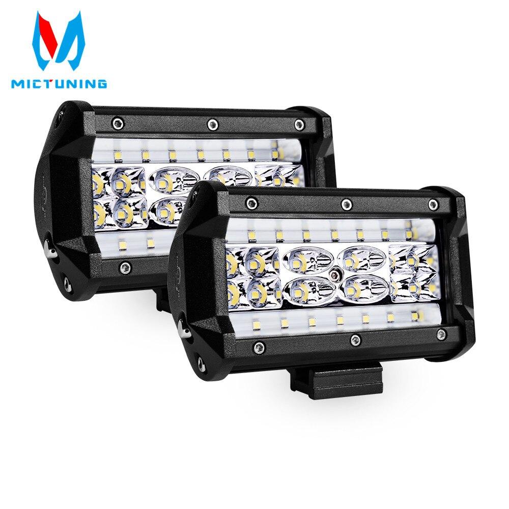 Top 2pcs 5 inch 140W LED Work Light Bar Super Flood 5 Quad Row LED Pods