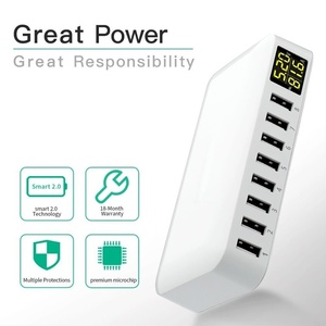 Image 3 - Tongdaytech Multi 8 Port USB Fast Charger Desk Phone Carregador LCD Display Charger Dock For Smartphone Iphone Samsung Xiaomi