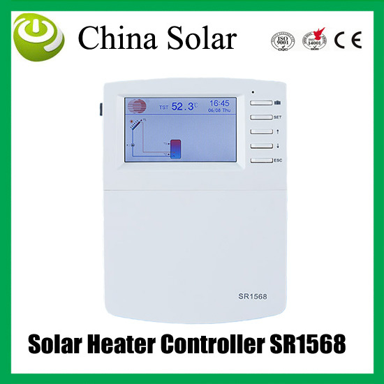 Sr1568 Solar Water Heater System For Water Tank And Heating Collector Controller With 7
