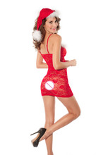 sexy lingerie Sexy Costumes sleepwear women hot red Christmas lingerie + hat pajamas set club play party underwear hot intimates