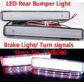 Crystal lens LED Rear bumper reflector light brake light reverse backup light turn signalsfor VW T5 Multivan Caravelle 05-2012