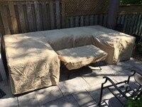 L shape Cover for Garden sofa set,Custom size L shape,Black color durable Oxford fabric,Elastic on the bottom.