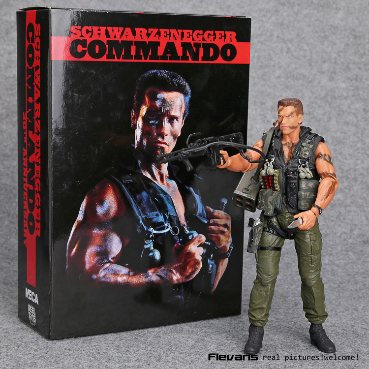 NECA Commando 30th John Matrix Arnold Schwarzenegger PVC Action Figure Collectible Model Toy 7 18cm MVFG348 the terminator t 800 arnold schwarzenegger pvc action figure collectible model toy 7 18cm mvfg346