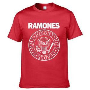 Biker T-Shirt Screenprinting Rock-Band Ramones Music-Tour Punk Retro Logo American Vintage