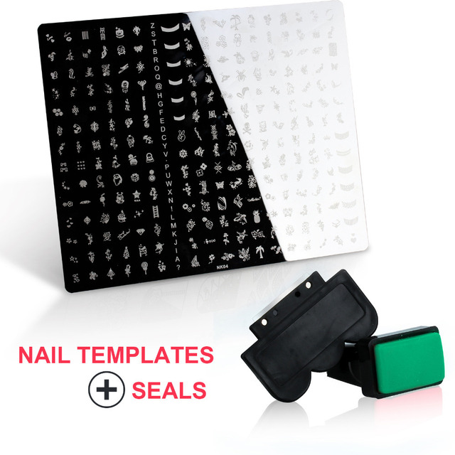 31.4 cm x 25.5 cm placas estampación 1 placas de acero 1 Stamper 1 Scraper DIY esmalte de uñas de arte 5 diseño para elegir