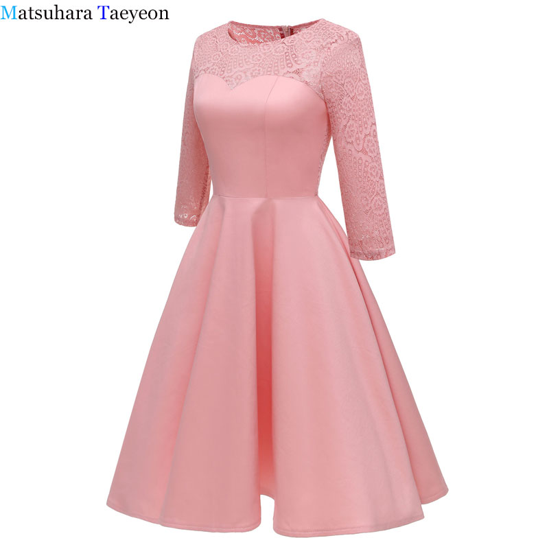 Robe femmes 2018 robes manches robe de soirée élégante automne hiver décontracté a-ligne robe tunique grande taille