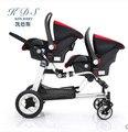 0-twins carrinho de bebê duplo dianteiro e traseiro KDS gêmeos gêmeos carrinho de criança assento de carro