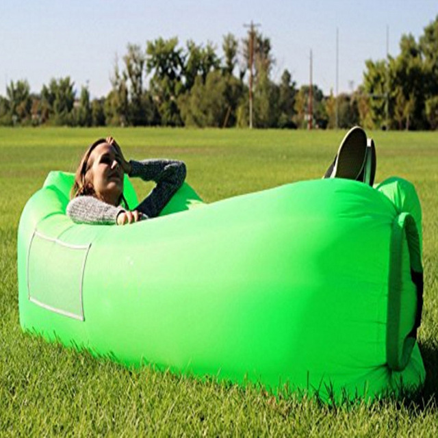 260x70cm Camping Outdoor Lazy Bag Air Furniture Sleeping Fast Inflatable Lounge Chair Sofa