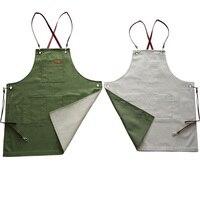 Hot Fashion Cowboy Apron Bib Leather Straps Cafe Bar Chef Unisex Uniform Barber Painter Cooking Pinafore