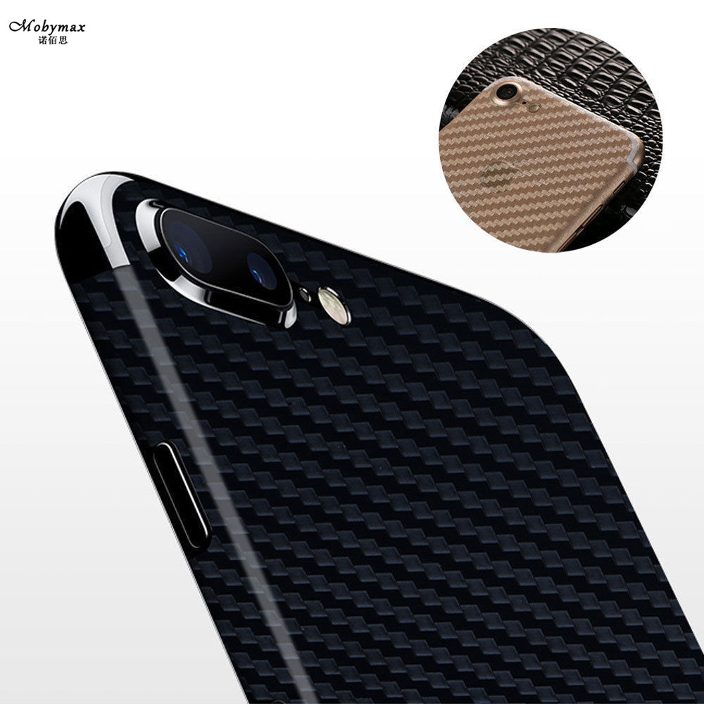 3D Anti-fingerprint Screen Protector Transparent Carbon Fiber Back Film For iphone 7 8 p ...