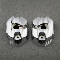 1 Pair Chrome Left Right Cylinder Head Valve Covers For BMW R1200GS K25 Adventure K255 2010