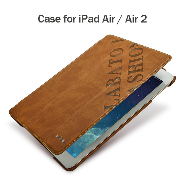 Labato Smart Cover for iPad Air / Air 2 Case PU Leather Luxury Brand Tablet Accessories Cover for iPad air 1 2 Case 9.7 inch