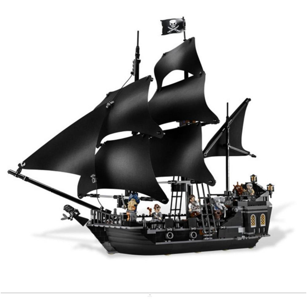 Lepin 16006 804Pcs Building Blocks Bricks PiratesOf The Caribbean The Black Pearl Ship Model Toys Compatible 4184