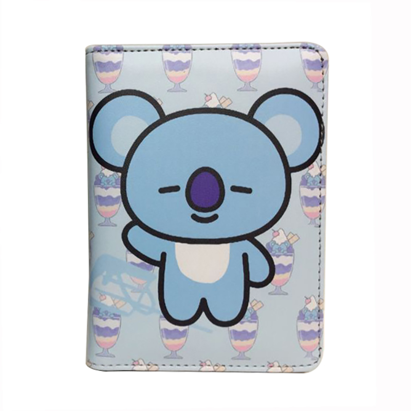 Kawaii Cartoon Anime Leather Passport Cover Travel Accessories Credit Card ID Holder Purse Gifts Cute Cartoon Passport Holders