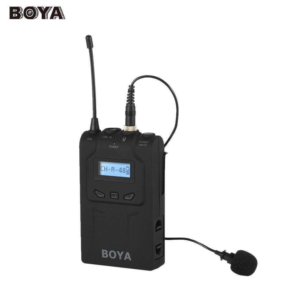 BOYA BY-WM8T UHF Digital Wireless Bodypack Transmitter With Lavalier Microphone 48 Channels shure ulxd1 p51 bodypack transmitter