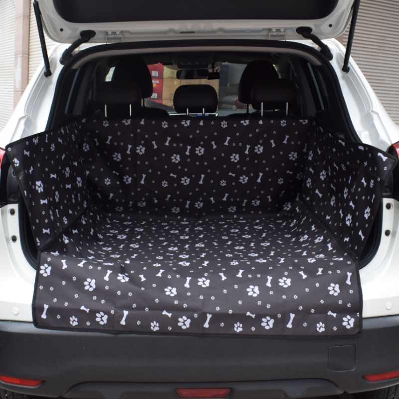 Hot Sale Oxford Fabric Pet Car Boot Cover Waterproof Cushion For Trunk Of SUV Car Printed Dog Pad Travel Perros Car Seat Cover