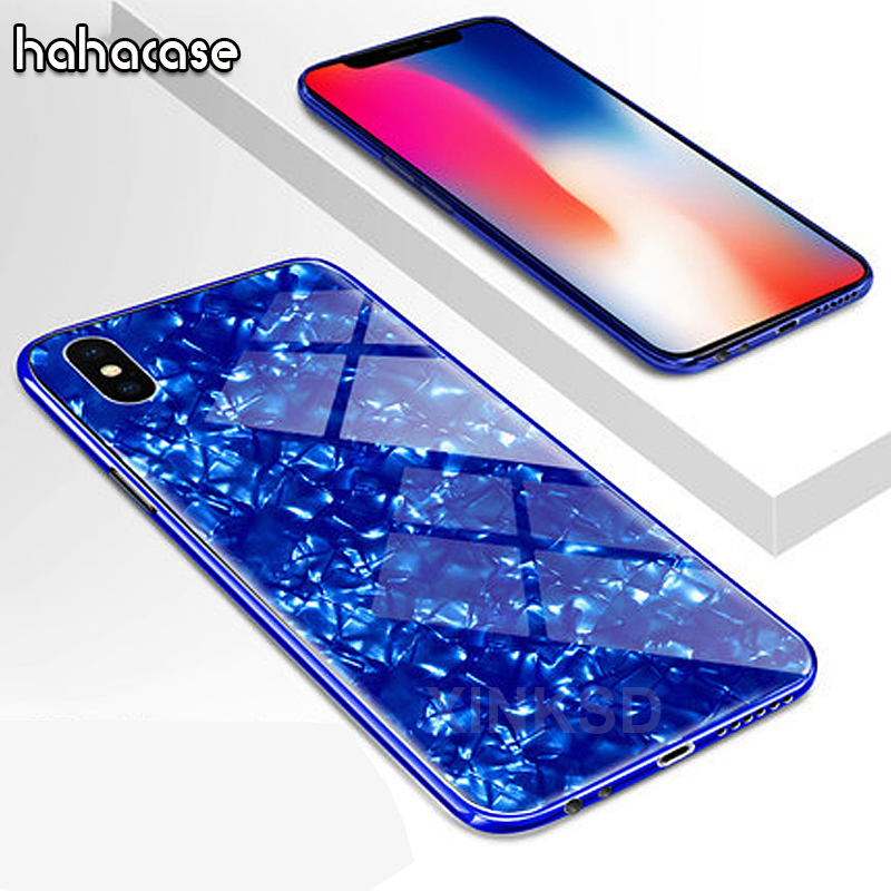 1000pcs Luxury Glitter Tempered Glass TPU Case For iPhone XS Max XR X 8 7 6S Plus Cover Shockproof Soft frame Hard Back Case