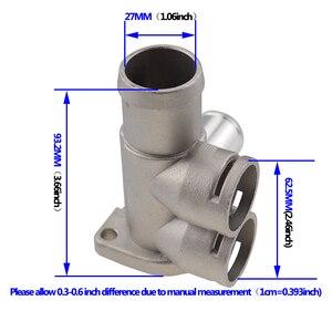 Image 4 - אלומיניום סגסוגת קירור נוזל קירור צינור צינור מחבר Fit עבור פולקסווגן פאסאט B3 גולף שרן פולו אאודי 80 100 c45 a6c4 מנוע AVK.