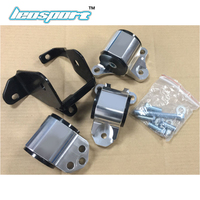 SILVER Engine SWAP MOUNTS kit for HONDA CIVIC D16 B16 B18 B20 EK D SERIES B SERIES 1996 2000