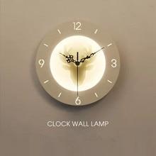 HAWBOIRRY LED 220V110V indoor lighting childrens bedroom bedside lamp study loft living room balcony bathtub clock wall