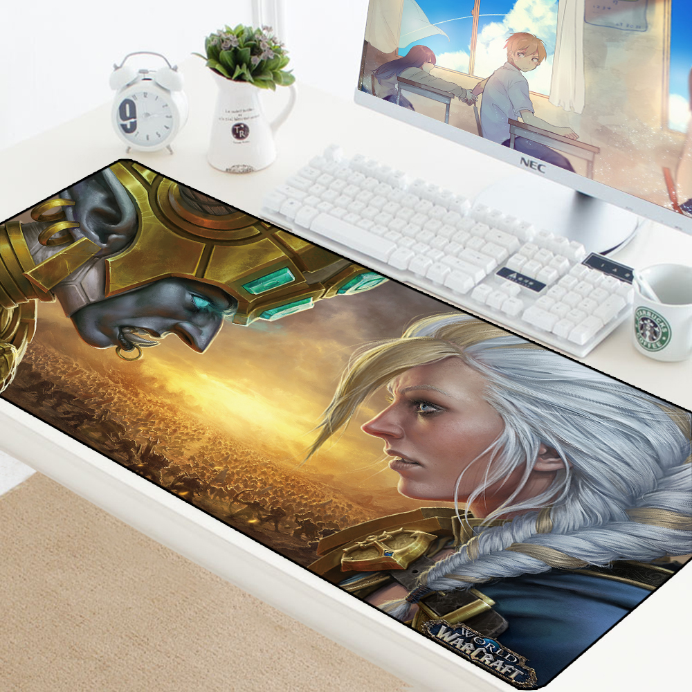 XL World of Warcraft Gaming Mouse Pad Large Customized Laptop Gamer Mousepad Speed Rubber Desktop Notebook Mat 70x40cm for LOL