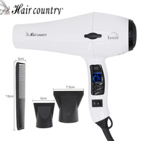 Hair country Professional Hair Dryer LCD Display Hair Dryer Original Blow Dryer Anion Negative Ionic Hairdryer Hot and Cold Seca