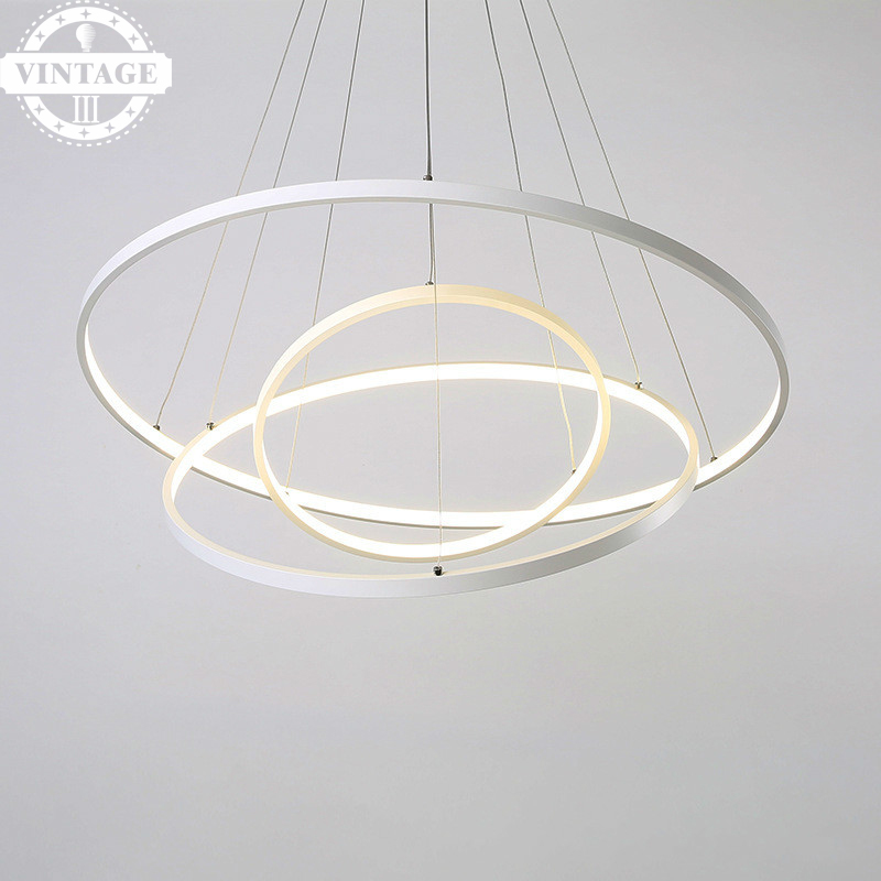 Simple Modern Led pendant lights for living dining room acrylic cerchio anello lampadario pendant lamp lamparas modernas modern led pendant lights for dining living room acrylic 38w led pendant lights lamp lighting fixture lamparas modernas vallkin