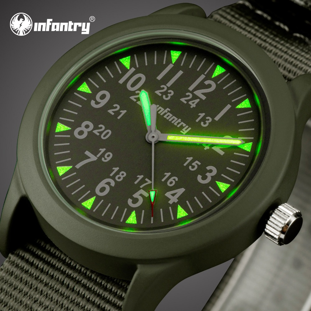 INFANTRY Mens Watches Top Brand Luxury Military Watch Men Army Nato Strap Watch For Men Field Thin Luminous Relogio Masculino