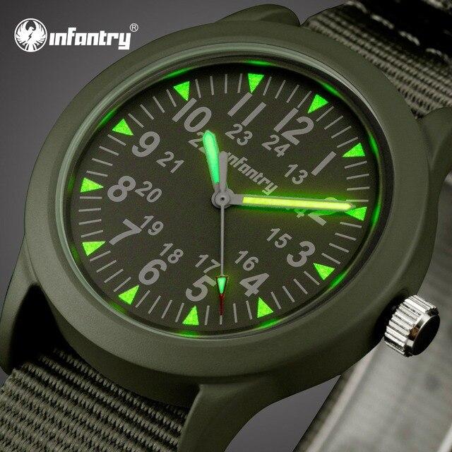 b0fc00db810 Mens Relógios Top Marca de Luxo Relógio Militar Dos Homens Do Exército de  INFANTARIA Nato Strap