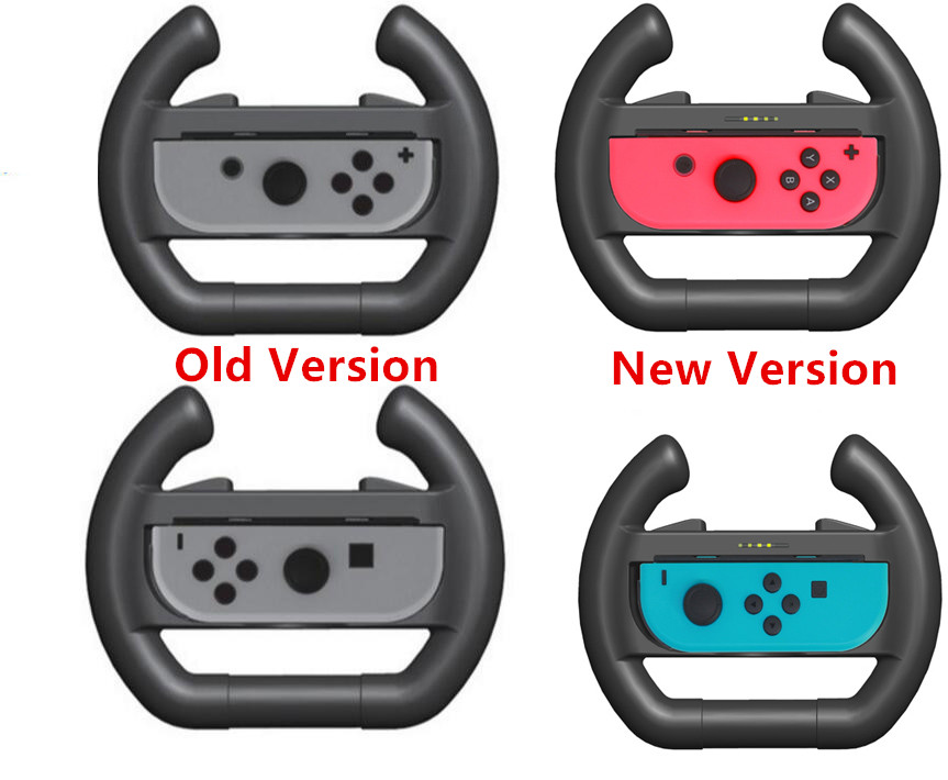 Upgrated Game Handle Holder Hand Grips For Nintend Switch Nintendoswitch NS Joy-Con Controller Racing Steering Wheel LED