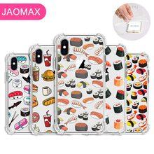 Jaomax Transparent Silikon Nette Cartoon Lebensmittel Pizza Französisch Frites Sushi Fällen Für iPhone 11 X Xs Max 6 6s 7 8 Plus 5S SE Xr