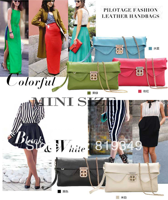2013 NEW VANCL Women Shoulder Bag Joanna Fashion Chain Split Leather Twist Lock Fastening Shoulder Bag Multicolor FREE SHIPPING
