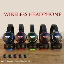 Smilyou luz led legal crianças fones de ouvido sem fio bluetooth 5.0 fones de ouvido para jogos com microfone para todos os telefones como presente