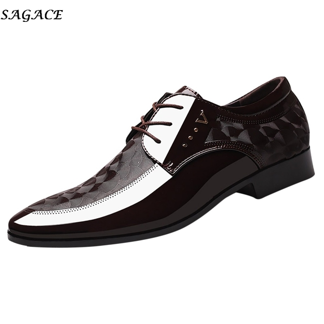 SAGACE Leather Shoes Men Breathable Formal Dress Shoes Luxury Business Oxford Male Office Wedding Flats Footwear Mocassin Homme 1