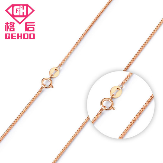 GEHOO Top Quality Simlple Style Rose Gold Color Fashion Jewllery without Pendant Chain Necklace for women