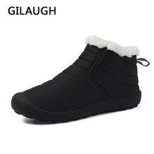 GILAUGH/зимние супер теплые плюшевые мужские зимние ботинки водонепроницаемые непромокаемые ботинки теплые зимние ботинки унисекс на нескользящей подошве Большие размеры 35-48